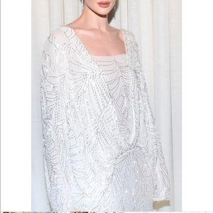 Attico Dresses - Attico Silk Beaded Georgette Dress